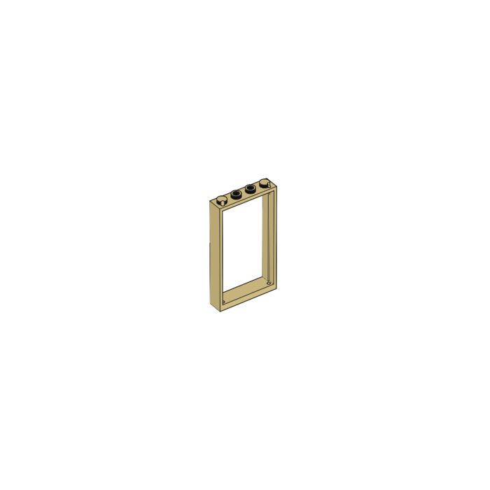 5 NEW LEGO Door Frame 1 x 4 x 6 Type 2 Tan