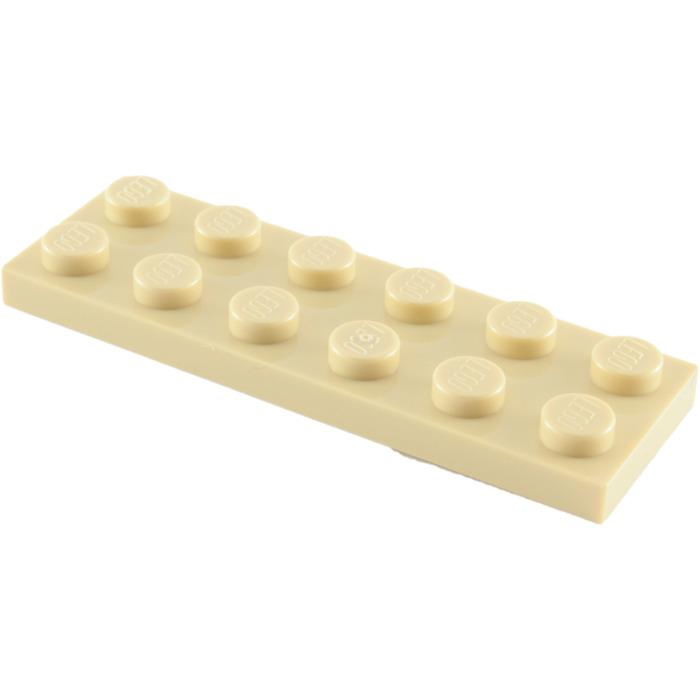 LEGO® Brick Tan Plate 2 x 6 Design ID 3795