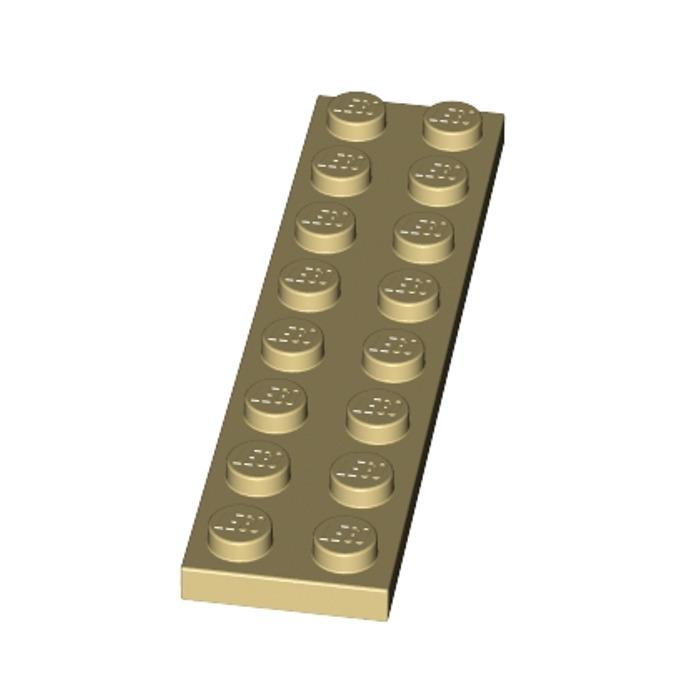 5x 3034 Lego Platte 2x8 beige tan gebraucht 4113988
