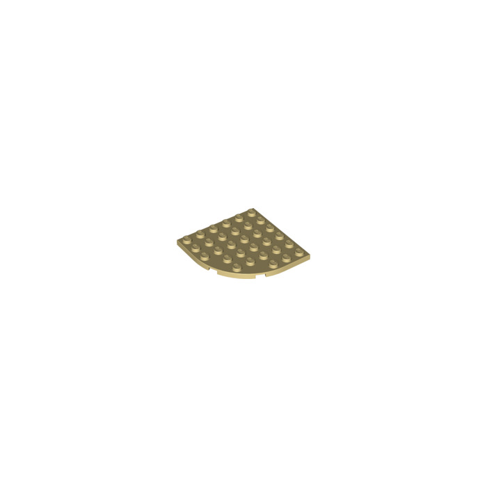 Lego Plate Corner Rounded 6x6 Beige 2255