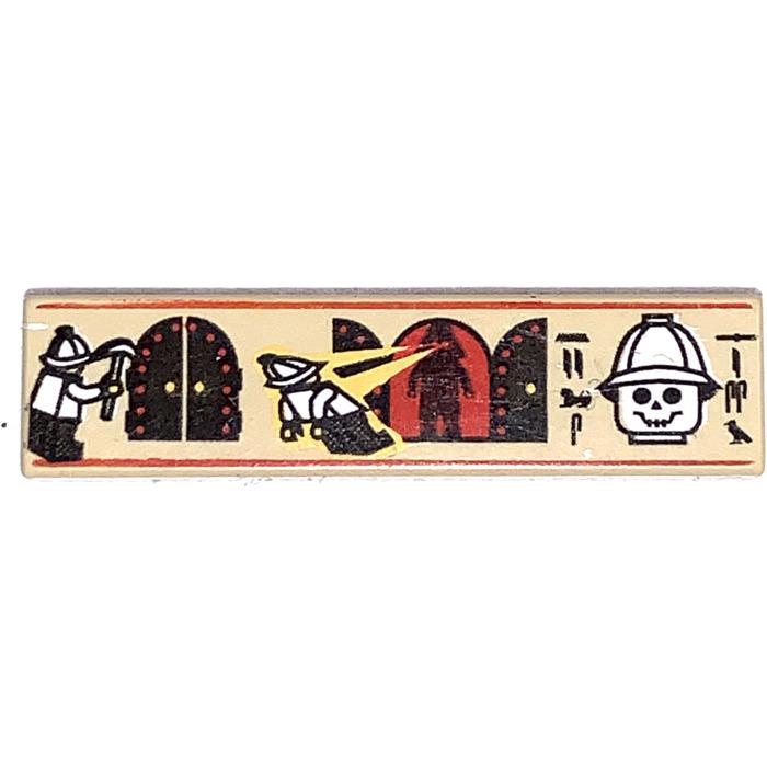 Lego egypt tan tile 1x4 with hieroglyphs ref 2431px4//2996 5958 5938 5988 5978