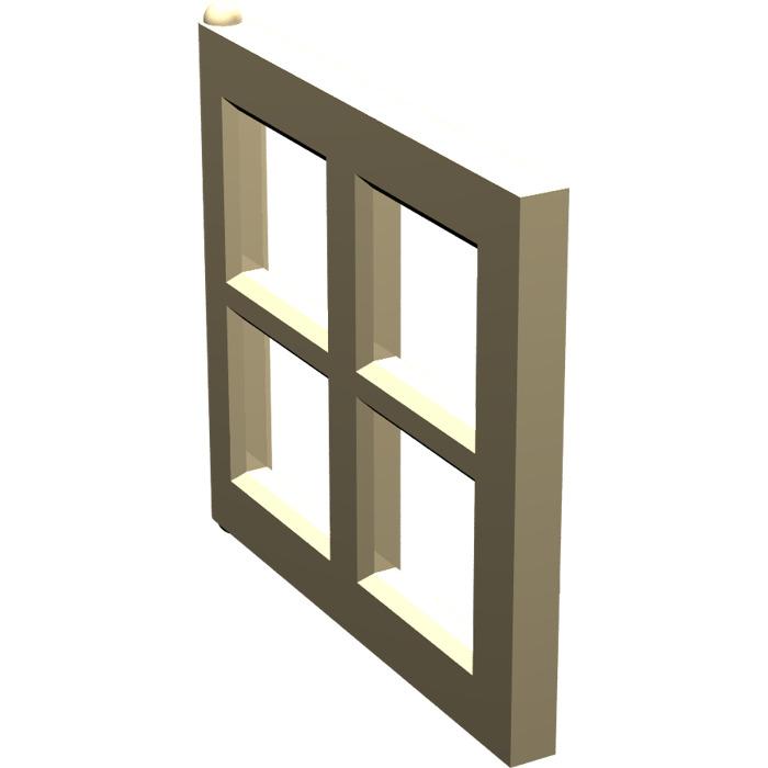 Lego tan window 2 x 4 x 3 pane 4133 brick owl lego for 2 x 3 window