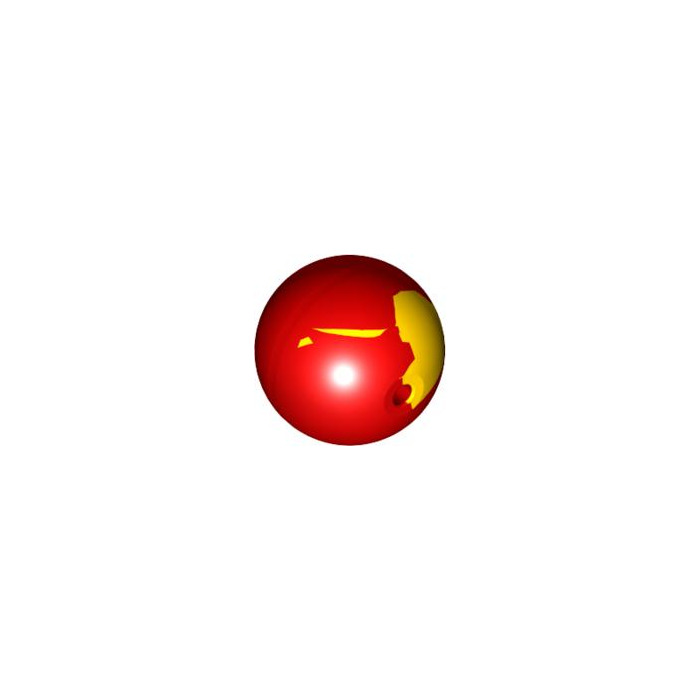 1x Lego Bionicle Ball Transparent Orange Marbled Yellow Ball 70225 54821pb04