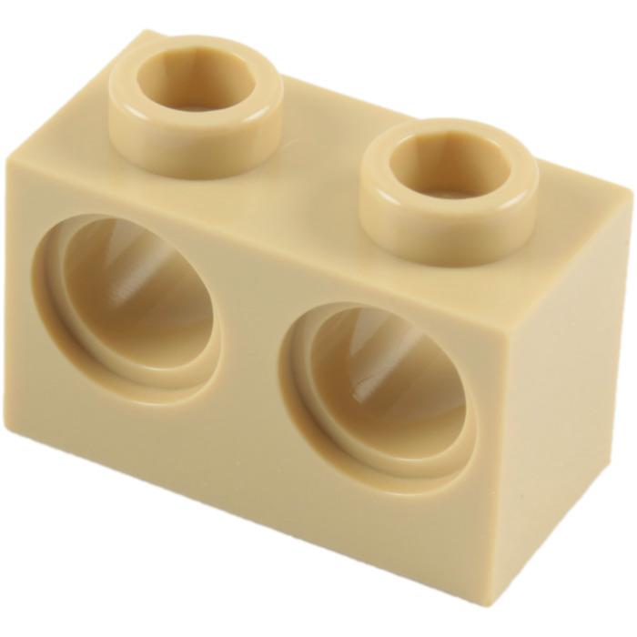 New Lego Technic 10x Loch Stein Balken 1x2 Rot Braun Brick Hole 3700 Neuware