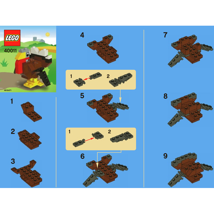 Lego Thanksgiving Turkey Set 40011 Instructions Brick Owl Lego
