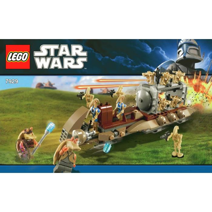 Lego the battle of naboo set 7929 1 instructions brick for Siege lego france