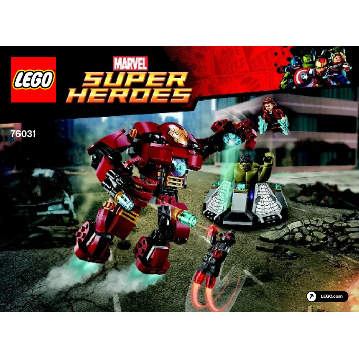 LEGO The Hulk Buster Smash Set 76031 Instructions