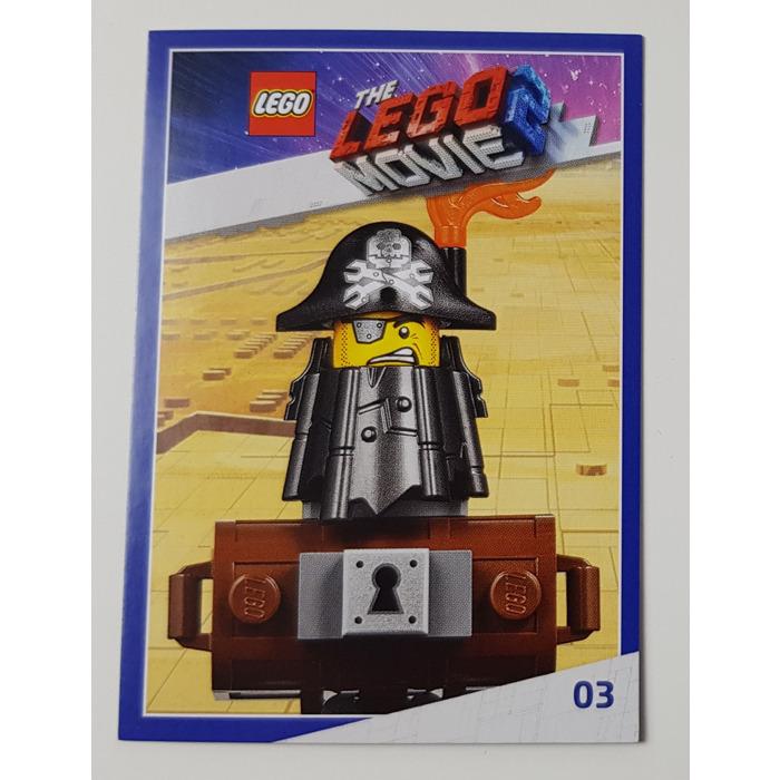 Lego The Lego Movie 2 Card 03 Metalbeard Brick Owl Lego