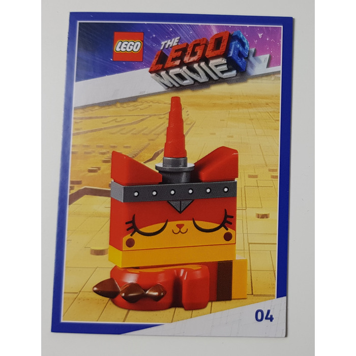 Lego The Lego Movie 2 Card 04 Unikitty Warrior Kitty Sleeping