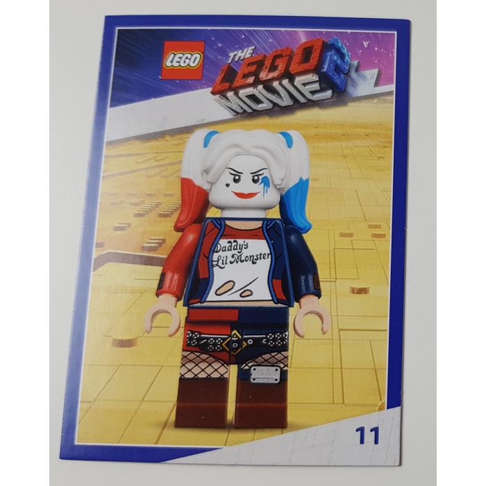 Lego The Lego Movie 2 Card 11 Harley Quinn Brick Owl Lego