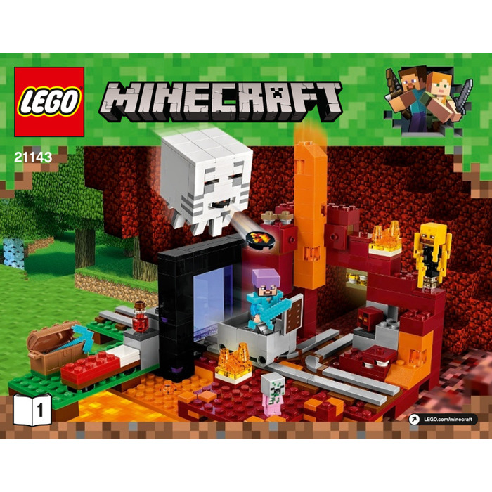 LEGO The Nether Portal Set 21143 Instructions
