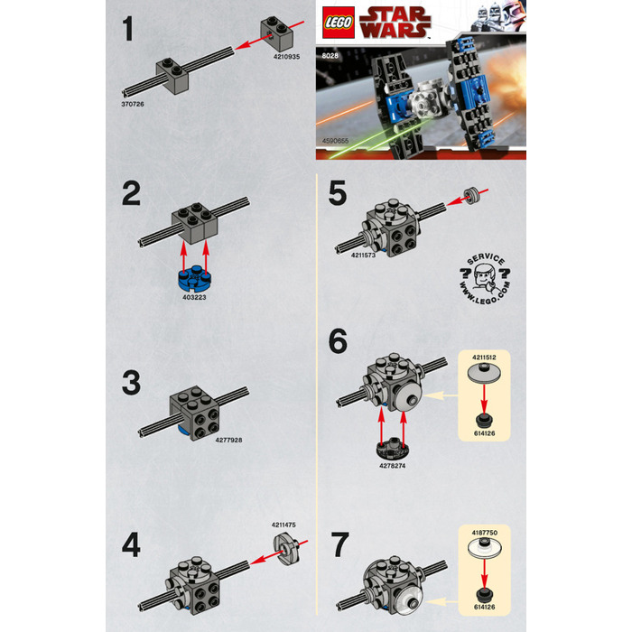 Lego Tie Fighter Set 8028 Instructions Brick Owl Lego Marketplace