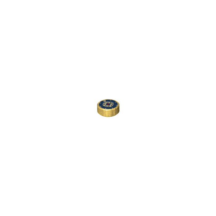 Lego-Tile Round 1 x 1 Y104 98138 Pearl Gold x 4