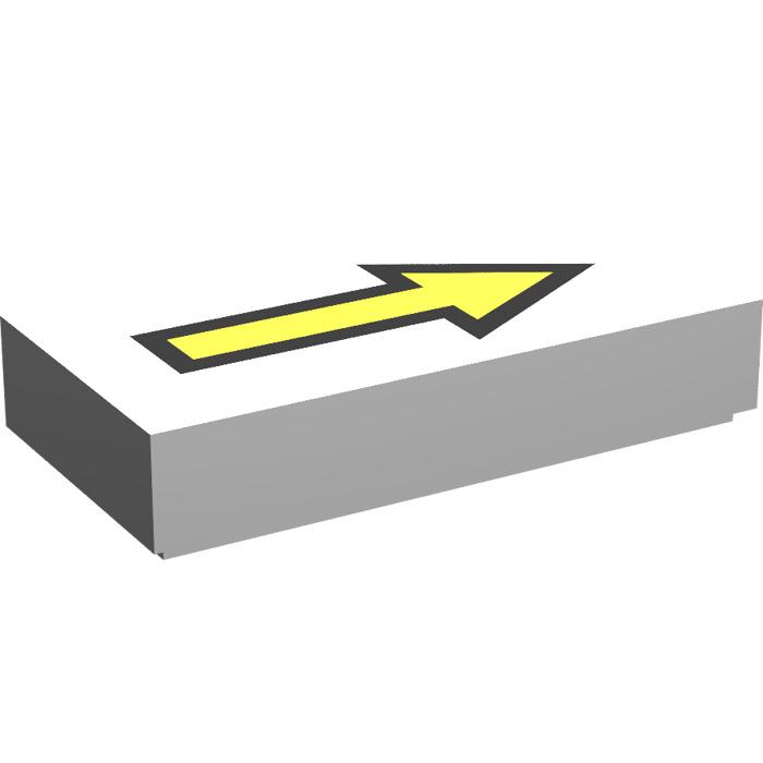 Lego 2x Tile decorated 1x2 Yellow Arrow Segmented flèche jaune 3069bpb605 NEUF