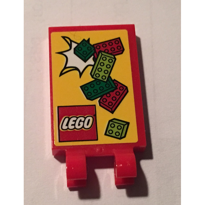 LEGO Tile 2 x 3 with Horizontal Clips with Sticker from set 60132 ...