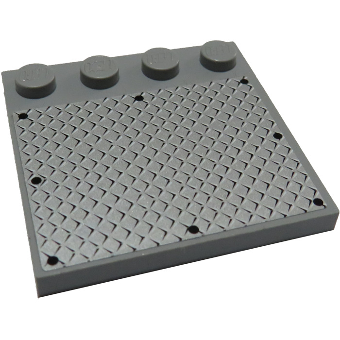 LEGO 6179 NEW Dark Grey 4x4 Modified Plate With 4 Studs 4 Pieces Per Order