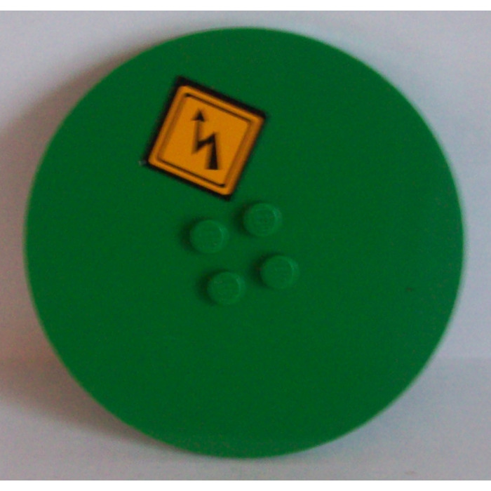 Lego 20 New Green Tiles Round 8 x 8 Stud Pieces Parts