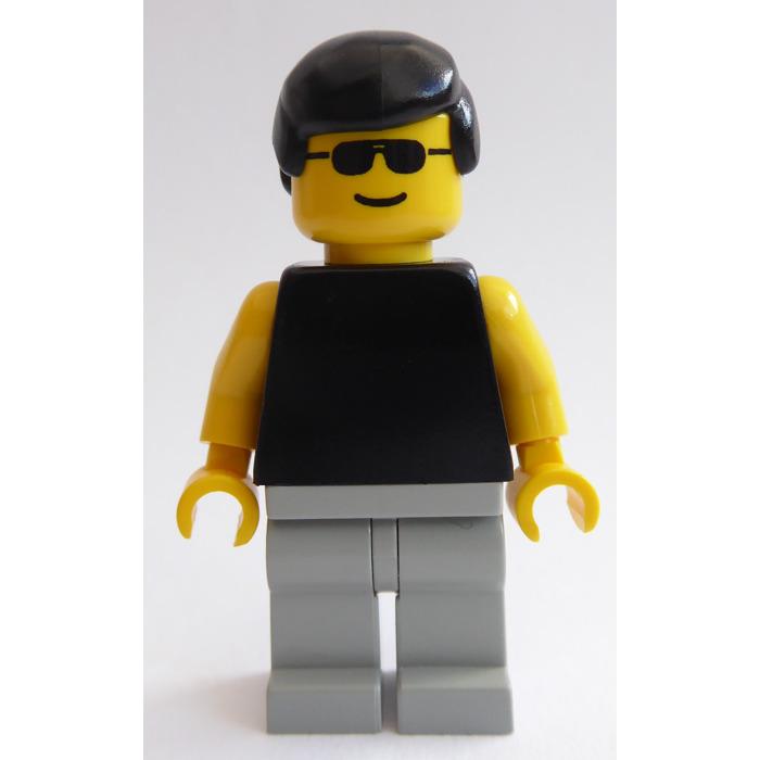 Minifigures Plain Black Torso Yellow Arms Sunglasses 6551 pln013 City Lego