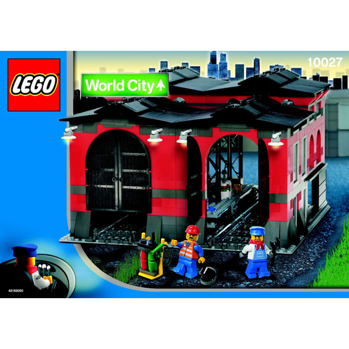 Lego Train Engine Shed Set 10027 Instructions Brick Owl Lego