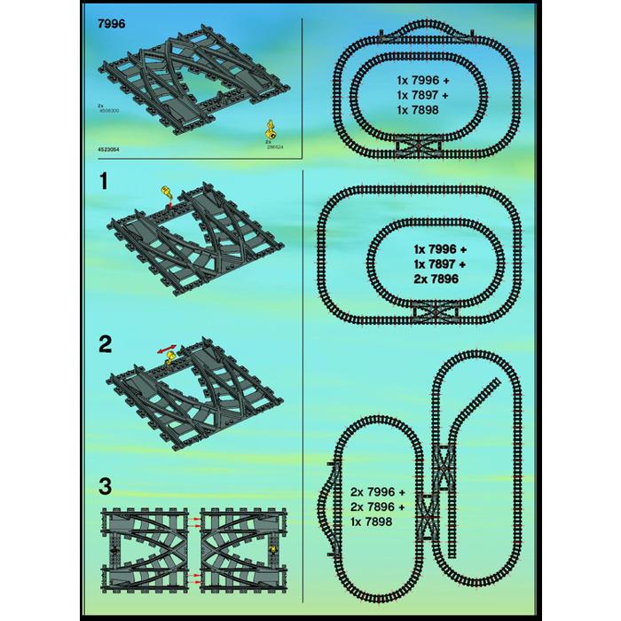Lego Train Rail Crossing Set 7996 Instructions Brick Owl Lego