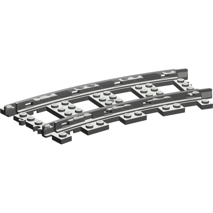 2x Lego ® Railway Track Rail 9V Curved Curve Train Track Curved 2867