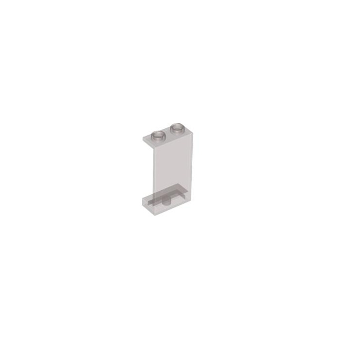 LEGO Transparent Black Panel 1 x 2 x 3 without Side Supports, Hollow ...