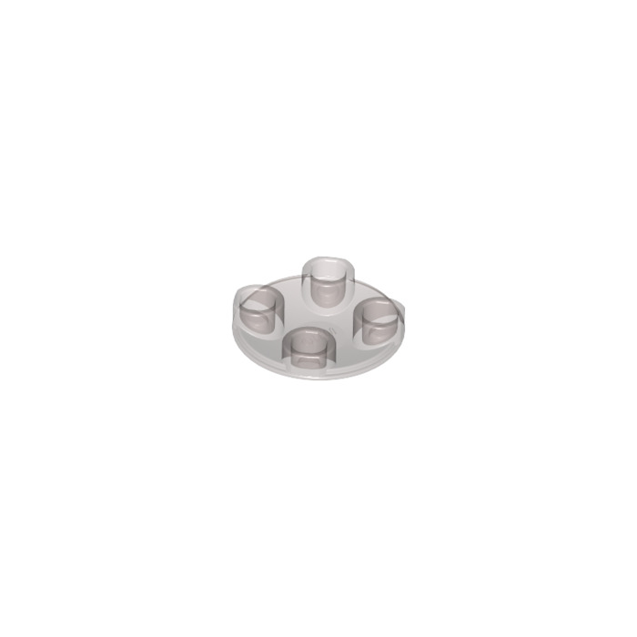 Lego 2x Plate Round plaque ronde trou 4x4 hole 2x2 trans clear 11833 NEUF