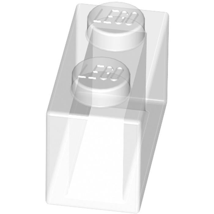 LEGO LOT 100 X BRIQUE 1X2 TRANSPARENT TRANS CLEAR REF  3065 *NEUF*