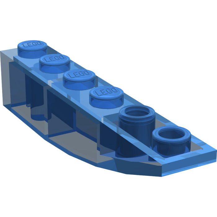 Lego 6x Brick Slope Sloped Curved Inverted 6x1 Black 42023 41763 Lot