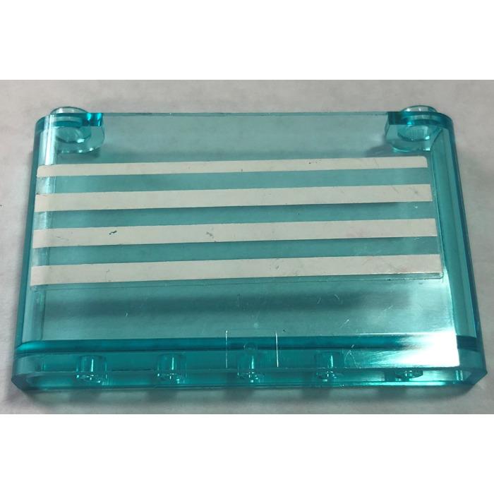 Lego Transparent Light Blue Windscreen 1x6x3 w// Sticker from Set 4431 Ambulance