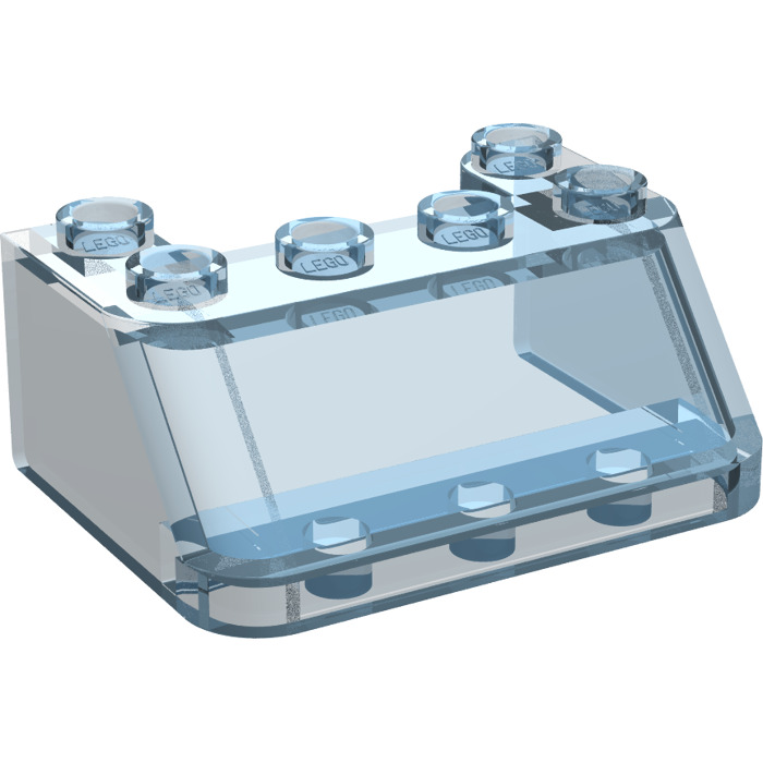 2 x Lego System Windscreen Transparent Light Blue 3 x 4 x 1 1//3 Windscreen