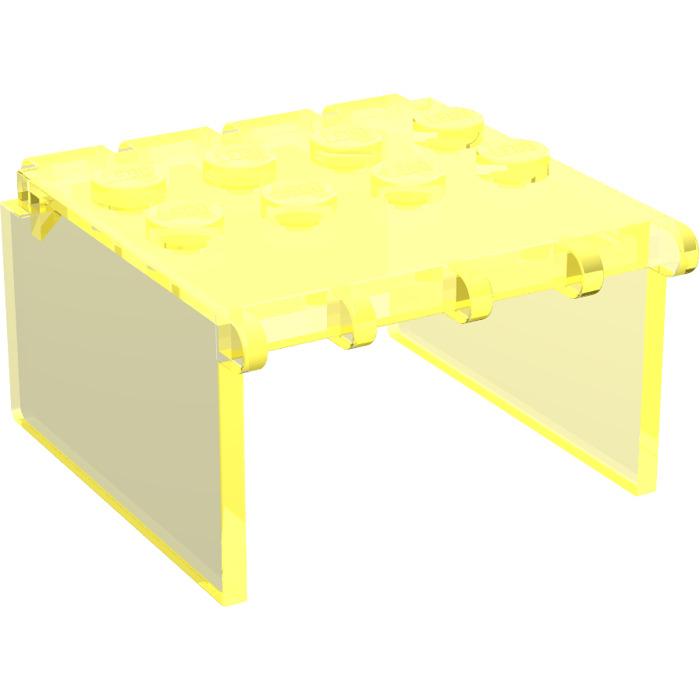 LEGO Transparent Neon Green Windscreen 4 x 4 x 2 Canopy Extender (2337)  sc 1 st  Brick Owl & LEGO Transparent Neon Green Windscreen 4 x 4 x 2 Canopy Extender ...