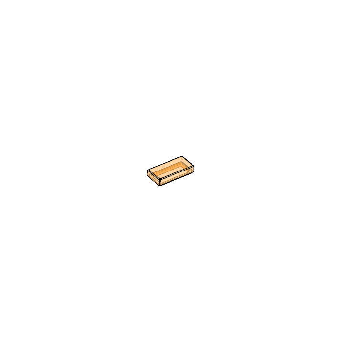 6251306 10 Lego Transparent Orange 1x2 Tile with groove NEW