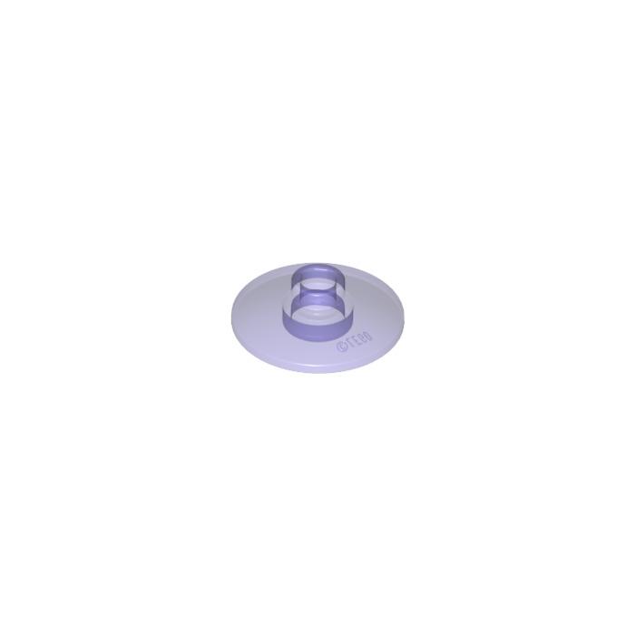 10 LEGO Transparent Purple Dishes 2x2Ø16 Design ID 30063 35395 Element 6245309