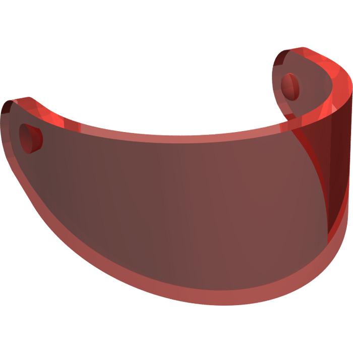 LEGO Transparent Red Minifig Helmet Visor (2447   35334)  43defbd660c