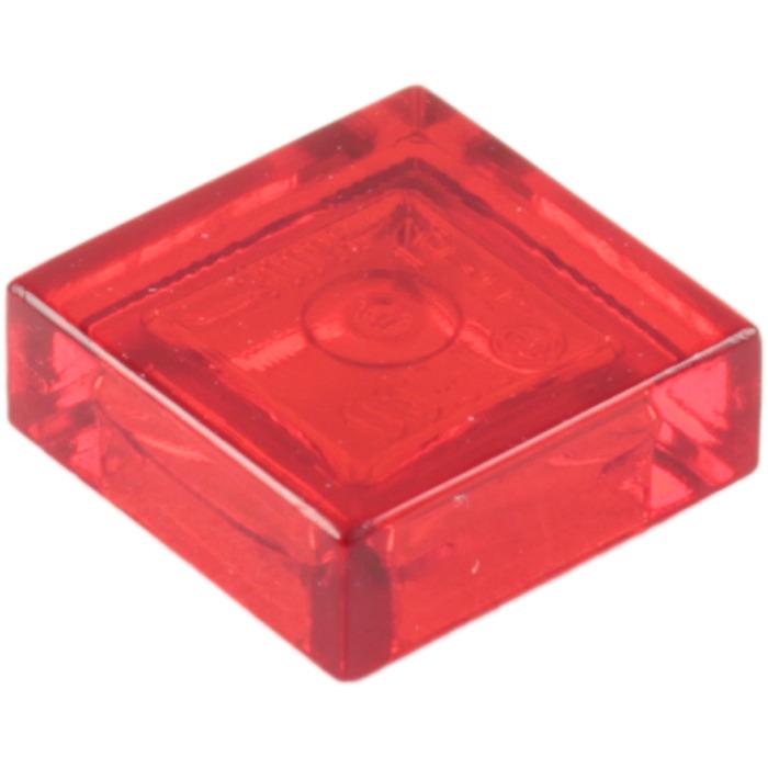 K1 # LEGO Plate Tile 1x1 Red Transparent 3070 20 Piece