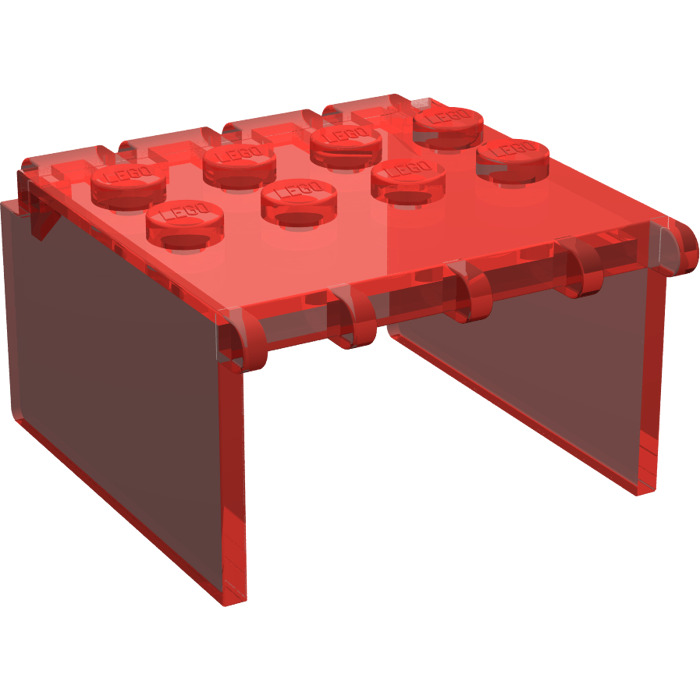 LEGO Transparent Red Windscreen 4 x 4 x 2 Canopy Extender  sc 1 st  Brick Owl & LEGO Transparent Red Windscreen 4 x 4 x 2 Canopy Extender | Brick ...