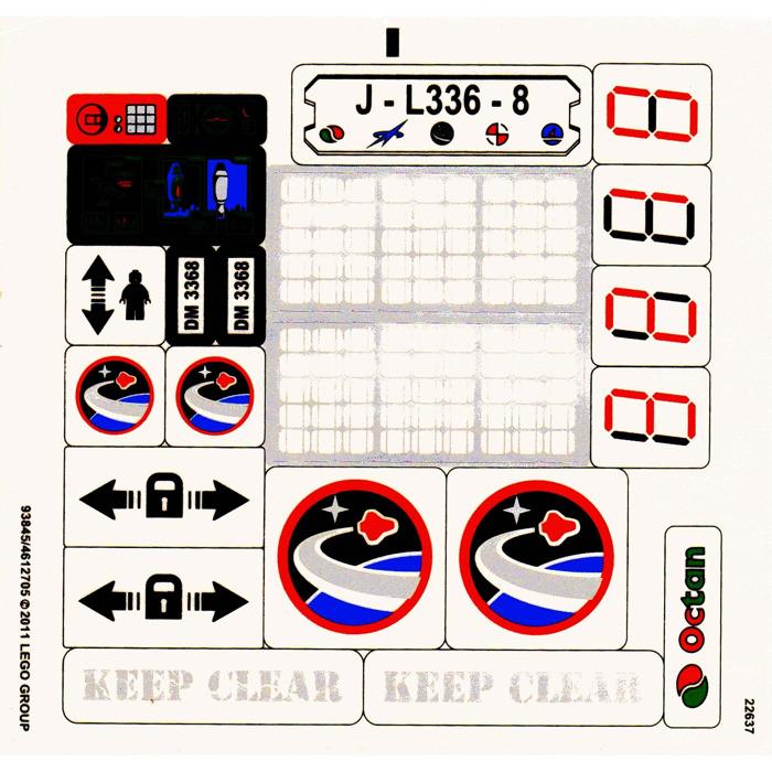 LEGO Sticker Sheet for Set 7697 (59625)   Brick Owl - LEGO ...   Lego Space Sticker Sheets