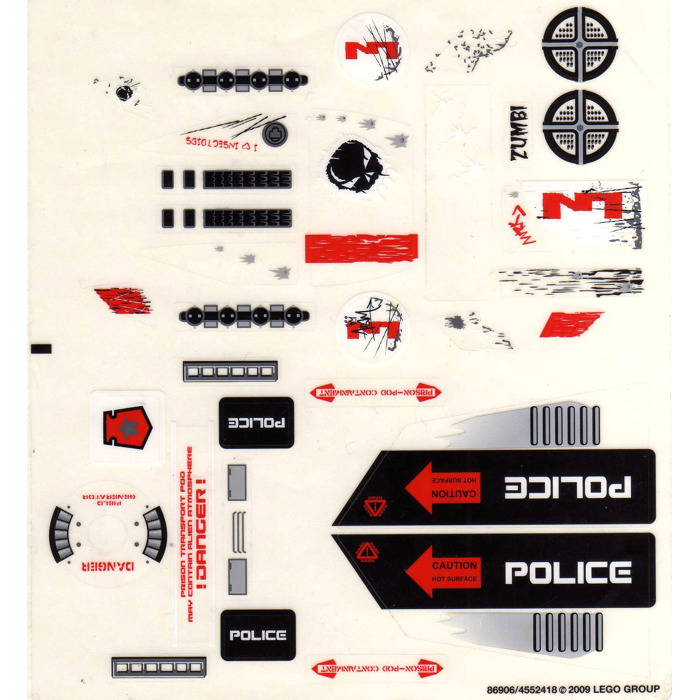 LEGO Sticker Sheet for Set 7644 (63430)   Brick Owl - LEGO ...   Lego Space Sticker Sheets