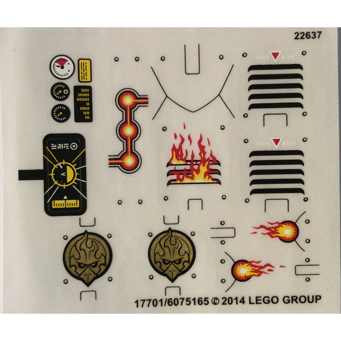 LEGO Transparent Sticker Sheet for Set 70142 (17701)