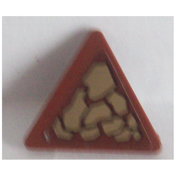 LEGO Triangular Sign with Clip with Dark Tan Scales (Pattern