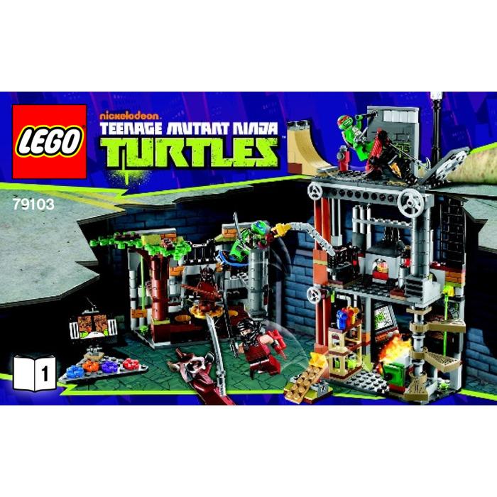 Lego Turtle Lair Attack Set 79103 Instructions Brick Owl Lego