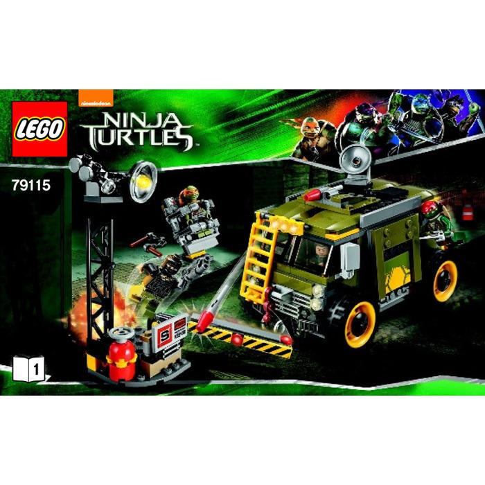 Lego Turtle Van Takedown Set 79115 Instructions Brick Owl Lego