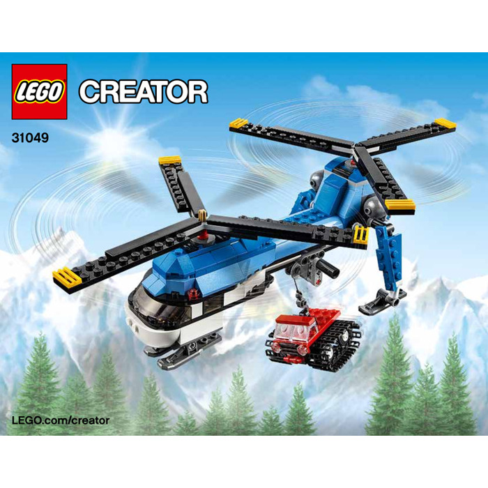 LEGO Twin Spin Helicopter Set 31049 Instructions