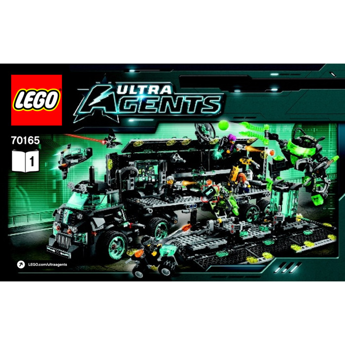 lego ultra agents mission hq set 70165 instructions brick owl lego marketplace. Black Bedroom Furniture Sets. Home Design Ideas