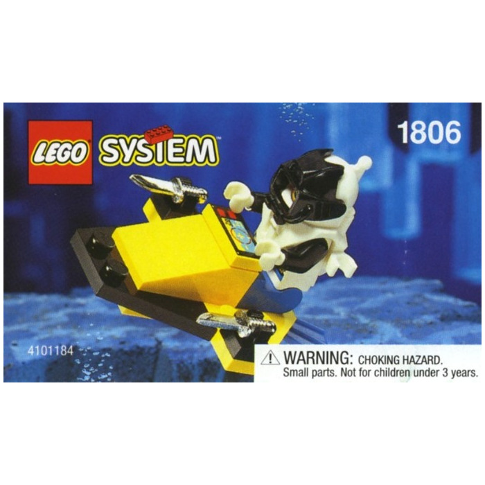 LEGO Lot of 2 Yellow Underwater Minifig Scooter Pieces