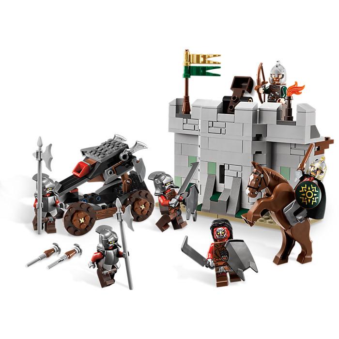 LEGO URUK HAI WITH HELMET minifigure FROM SET 9474 The Battle of Helm/'s Deep