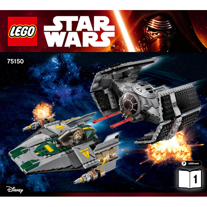 Lego Vaders Tie Advanced Vs A Wing Starfighter Set 75150
