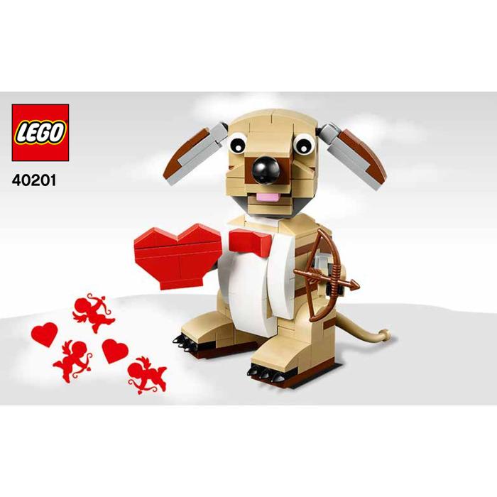 LEGO Valentineu0027s Cupid Dog Set 40201 Instructions