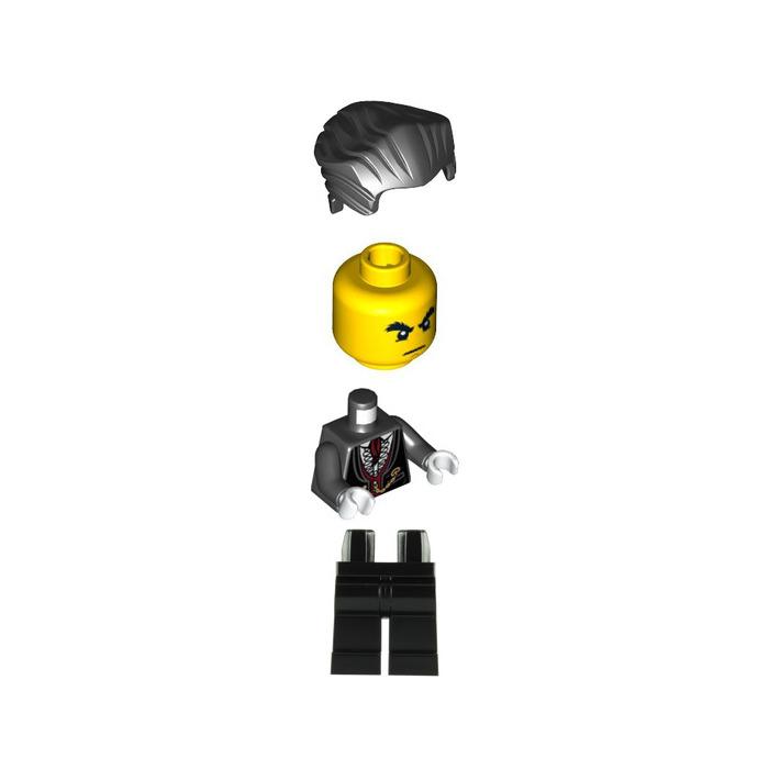 Lego Black Minifig Headgear Hair Swept Back with Widow/'s Peak Vampire